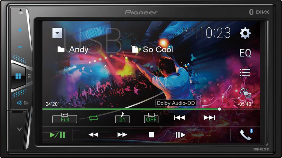 "Pioneer DMH-G220BT multimedia Οθόνη αφής 6,2"""