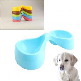 Διπλό πλαστικό μπολ ξηράς τροφής για κατοικίδια - OEM21704 Pet Feeding Bowl