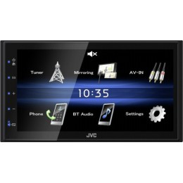 "JVC KWM25BT Mechless 6.8"" Touchscreen Radio with Bluetooth and USB KAI ΔΩΡΟ USB 8GB...!!!"