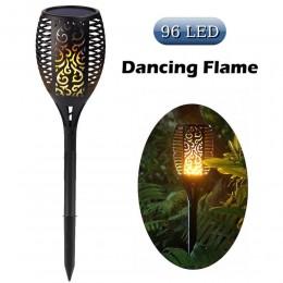 Ηλιακό φωτιστικό LED με εφέ φλόγας εξωτερικού χώρου τύπου δάδας - 78cm BH-6099