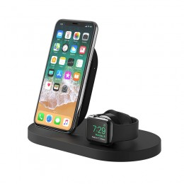 Belkin BOOST↑UP™ Wireless Charging Dock Black for iPhone + Apple Watch - F8J235vfBLK