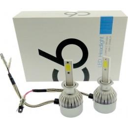 H1 LED 12V/24V C6 (72W 7600LM) 6000K IP67