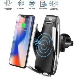 Smart Sensor Car Wireless Charger Έξυπνος Ασύρματος Φορτιστής με Αυτόματο Κλιπ & Βάση Στήριξης Τηλεφώνου