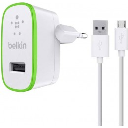 Belkin Home Charger & Micro USB Cable (10W/2.1A) - F8M667vf04-WHT