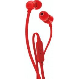 JBL T110 Ενσύρματα Ακουστικά In-Ear Με Πλήκτρο Ελέγχου Και Μικρόφωνο Για Handsfree Κλήσεις red