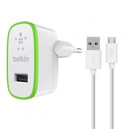 Belkin Home Charger & Micro USB Cable 2.4A - F8M886vf04-WHT