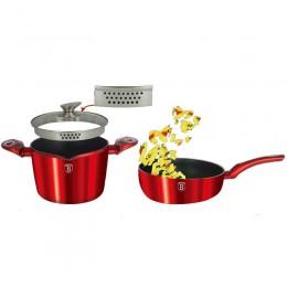 Σετ Μαγειρικών Σκευών Berlinger Haus Gourmet σε Κόκκινο Χρώμα BH-1303