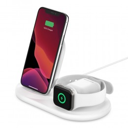Belkin WIZ001vfWH BOOST↑CHARGE™ 3-in-1 Wireless Charger for Apple Devices