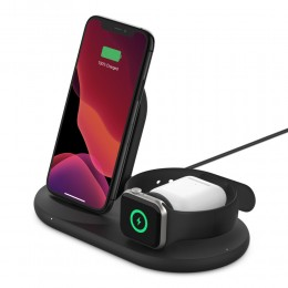 Belkin WIZ001vfBK BOOST↑CHARGE™ 3-in-1 Wireless Charger for Apple Devices