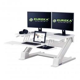 Eureka Ergonomic CV-PRO 36 Gaming Γραφείο White (90x81.5x14cm)