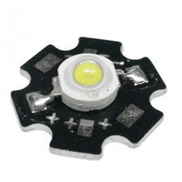 Υψηλής Ισχύος Star LED High Power 1W 3.2V Ψυχρό Λευκό 6000k GloboStar 46830