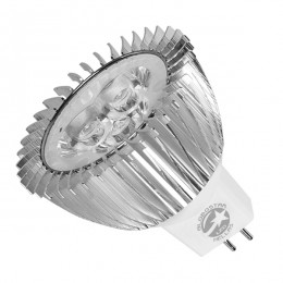 Λάμπα LED Σποτ MR16 GU5.3 3W 12V 300lm 45° Ψυχρό Λευκό 6000k GloboStar 53150