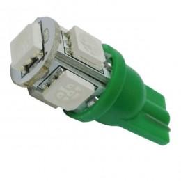 Λαμπτήρας LED T10 με 5 SMD 5050 Πράσινο GloboStar 90352