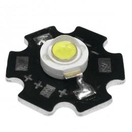 Υψηλής Ισχύος Star LED High Power 3W 3.2V Ψυχρό Λευκό 6000k GloboStar 66830