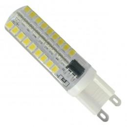 Λάμπα LED G9 72 SMD 2835 Σιλικόνης 5.5W 230V 530lm 320° Ψυχρό Λευκό 6000k Dimmable GloboStar 99378