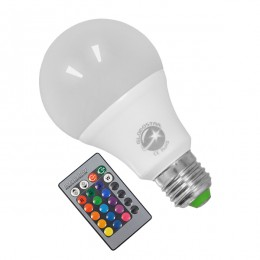 Λάμπα LED E27 A60 Γλόμπος 8W 230V 520lm 260° με Ασύρματο Χειριστήριο RGB GloboStar 88964