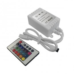 Ασύρματος Mini LED RGB Controller και Χειριστήριο RF 12v (72w) GloboStar 04033