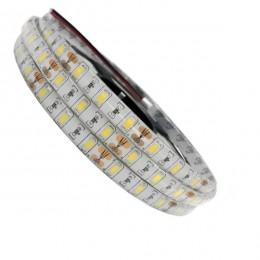 Ταινία LED Λευκή Professional Series 5m 20W/m 12V 60LED/m 5730 SMD 2400lm/m 120° Αδιάβροχη IP65 Θερμό Λευκό 3000k GloboStar 77392