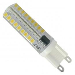 Λάμπα LED G9 72 SMD 2835 Σιλικόνης 5.5W 230V 490lm 320° Θερμό Λευκό 3000k Dimmable GloboStar 99379
