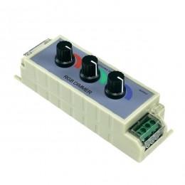 LED RGB Dimmer με 3 Ποτενσιόμετρα 12v (144w) GloboStar 30340
