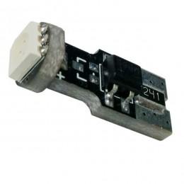 Λαμπτήρας LED T10 Can Bus με 1 SMD 5050 Μπλε GloboStar 24640