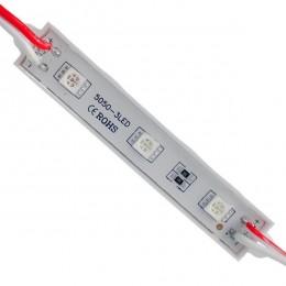 LED Module 3 SMD 5050 0.8W 12V 50lm IP65 Αδιάβροχο Κόκκινο GloboStar 65002