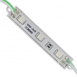 LED Module 3 SMD 5050 0.8W 12V 50lm IP65 Αδιάβροχο Πράσινο GloboStar 65003