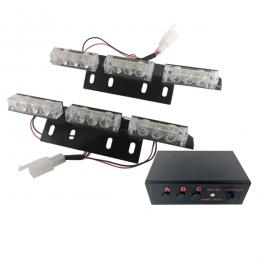 Εξωτερικά Φώτα Αστυνομίας STROBO LED 2x3 18W 10-30V IP65 Αδιάβροχα Μπλε GloboStar 77664