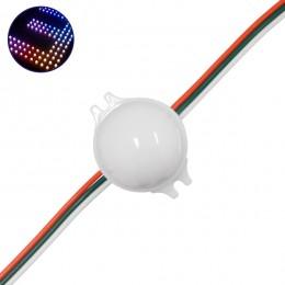 LED Magic Digital Στρογγυλό Module Φ3 CM RGBW 0.72W 12V SET 20 τεμ. GloboStar 30544