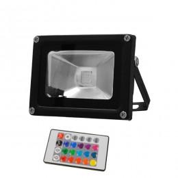 Προβολέας LED 10W 230V 650lm 120° Αδιάβροχος IP65 με Ασύρματο Χειριστήριο RGB GloboStar 62001