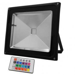 Προβολέας LED 50W 230V 3250lm 120° Αδιάβροχος IP65 με Ασύρματο Χειριστήριο RGB GloboStar 62003