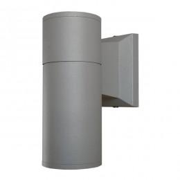 Φωτιστικό Τοίχου Wally Ασημί Αλουμινίου IP65 Down Gu10 GloboStar 90041
