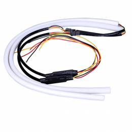 ΣΕΤ DRL - Φώτα Ημέρας για Φανάρι Αυτοκινήτου Λευκό + Πορτοκαλί για Φλας 85cm 12 Volt GloboStar 55115