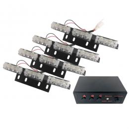 Εξωτερικά Φώτα Πυροσβεστικής STROBO LED 4x3 36W 10-30V IP65 Αδιάβροχα Κόκκινο GloboStar 88945