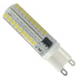 Λάμπα LED G9 72 SMD 2835 Σιλικόνης 5.5W 230V 510lm 320° Φυσικό Λευκό 4500k Dimmable GloboStar 99380