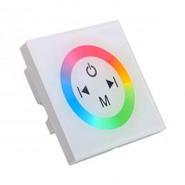 LED RGB Controller Λευκό Τοίχου Αφής 12v (144w) - 24v (288w) DC GloboStar 77419