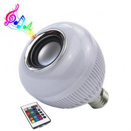 Λάμπα LED E27 12W 230V 1080lm 260° Bluetooth με Ηχείο και Ασύρματο Χειριστήριο RGBW GloboStar 06631