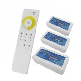 Σετ Ασύρματο RF 2.4G LED Dimmer Αφής CCT 2 Χρωμάτων 12-24 Volt για Τρια Groups GloboStar 04340