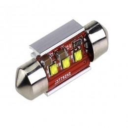 Σωληνωτός LED 39mm Can Bus με 3 CREE LED Ψυχρό Λευκό GloboStar 40171