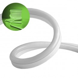 NEON FLEX LED Λευκή 1m 12W/m 230V 120 SMD/m 2835 SMD 450lm/m 120° Αδιάβροχη IP66 Πράσινο Dimmable GloboStar 22504
