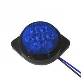 LED Πλευρικά Φώτα Όγκου Φορτηγών BULLET IP66 7 SMD 24 Volt Μπλε GloboStar 75488