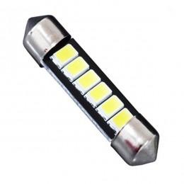 Σωληνωτός LED 42mm με 6 SMD 5630 Samsung Chip Λευκό 6000k GloboStar 40149
