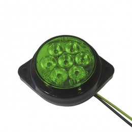 LED Πλευρικά Φώτα Όγκου Φορτηγών BULLET IP66 7 SMD 24 Volt Πράσινο GloboStar 75487