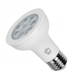 Λάμπα LED E27 PAR20 Σποτ 8W 230V 790lm 90° Ψυχρό Λευκό 6000k GloboStar 75515