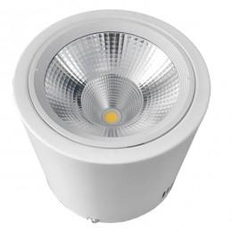 LED Φωτιστικό Σποτ Οροφής Down Light 30W 230V 4500lm 24° Θερμό Λευκό 3000k GloboStar 93003