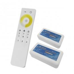 Σετ Ασύρματο RF 2.4G LED Dimmer Αφής CCT 2 Χρωμάτων 12-24 Volt για Δυο Groups GloboStar 04140