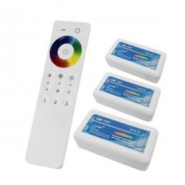 Ασύρματος LED RGB Controller με Χειριστήριο Αφής 2.4G για Τρία Group 12v (432w) - 24v (864w) DC GloboStar 04242
