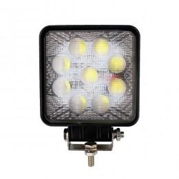 Προβολέας LED Εργασίας 5D Τετράγωνος 27W 10-30V 3780lm 30° Αδιάβροχος IP65 Ψυχρό Λευκό 6000k GloboStar 10100