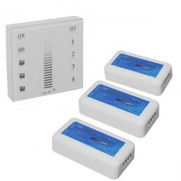 Σετ Ασύρματο RF 2.4G LED Dimmer Τοίχου Αφής 12-24 Volt 432/864 Watt για Τρία Group GloboStar 04047