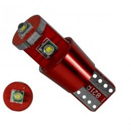 Λαμπτήρας LED T10 Can Bus με 3 CREE LED 12v 6000k GloboStar 04477